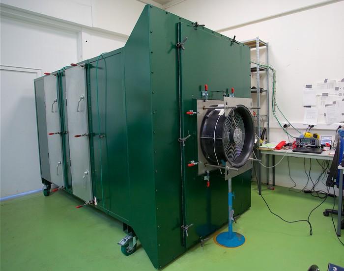 Aérométrologie blower doors fan calibration bench